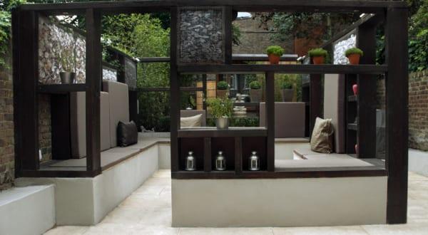 Gartengestaltung mit Sitzecke
