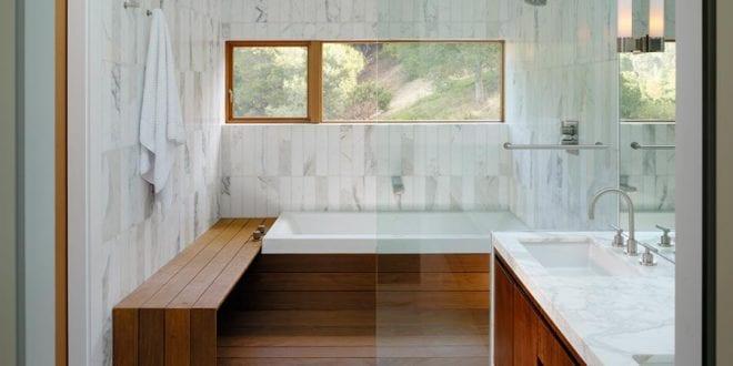 Luxus Badezimmer Holz Als Badezimmer Beispiel Mit Holz Und Marmor