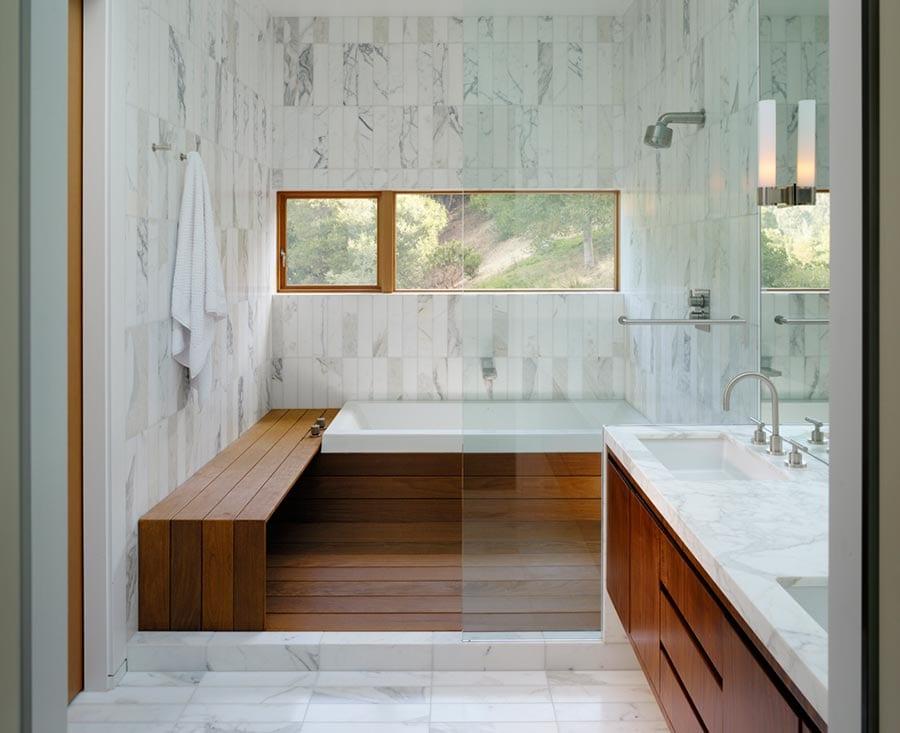 Perfekt Luxus Badezimmer Holz Als Badezimmer Beispiel Mit Holz Und Marmor