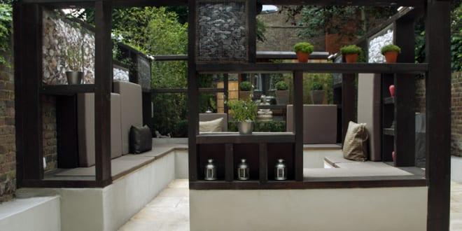 mein sch ner garten ideen f r terrasse garten mit gartenpavilion und sitzecke freshouse. Black Bedroom Furniture Sets. Home Design Ideas