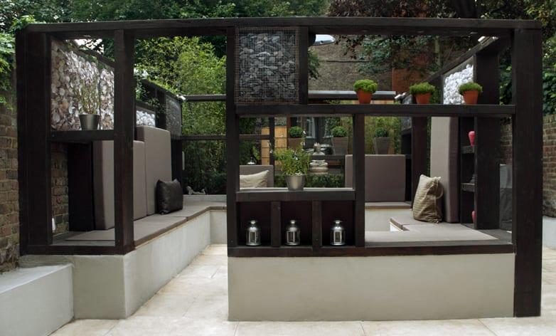 Mein Schöner Garten Ideen Für Terrasse Garten Mit Gartenpavilion Und  Sitzecke