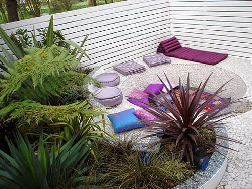 Mein Schöner Garten Mit Kies Und Sichtschutz Garten Aus Weißen Holzbrettern