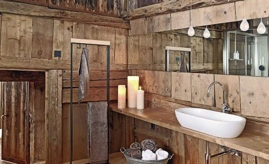 Rustikales Interior Design F 252 R Badezimmer Holz Freshouse