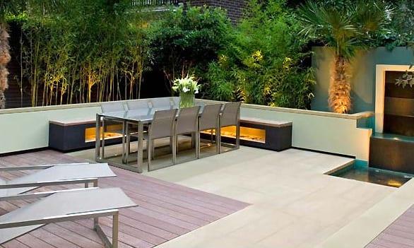 terrasse garten idee mit terrassendiele und sitzecke garten freshouse. Black Bedroom Furniture Sets. Home Design Ideas