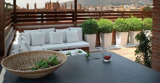 Terrasse Ideen Mit Sitzecke Garten Und Sichtschutz Braun Aus