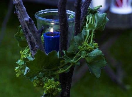 DIY Gartendeko mit kerzen für ihre gartenparty