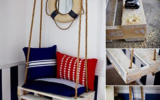diy h ngesessel f r kinder aus paletten freshouse. Black Bedroom Furniture Sets. Home Design Ideas