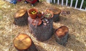 DIY Kinderspielplatz mit DIY Gartenmöbeln aus Holz