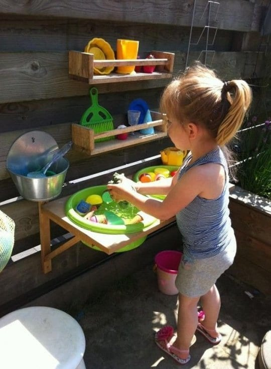 Diy kinderspielplatz im garten freshouse - Kinderspielplatz garten ...