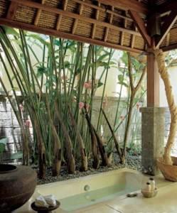 coole badezimmerideen mit badewanen im freien