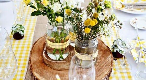 Coole dekoration in gelb f r gartenparty und als tischdeko idee freshouse - Gartenparty tischdeko sommer ...