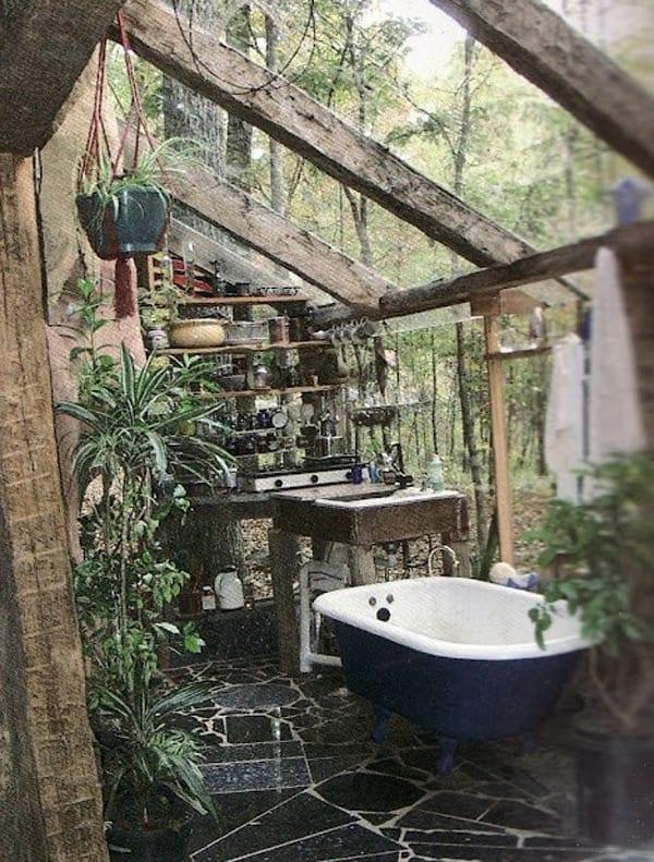 Coole Badezimmer coole idee für badezimmer im außenbereich mit badezimmer deko aus