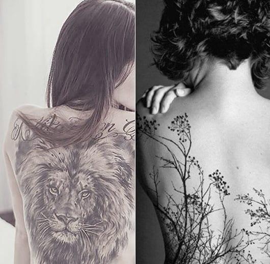 frauen rücken tattoo ideen