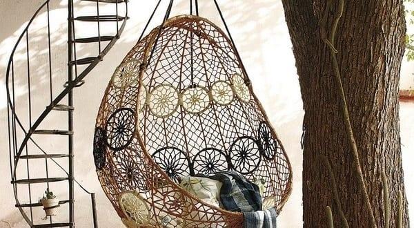 Fantastische gartendeko idee mit rattan h ngesessel for Gartendeko idee
