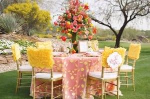 fantastische idee für gartenparty deko und tischdeko in gelb und rosa