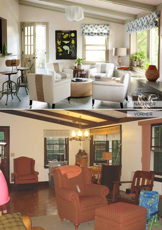 Charmant Fensterrahmen Und Deckenbalken Streichen Als Renovierungsideen Für  Das