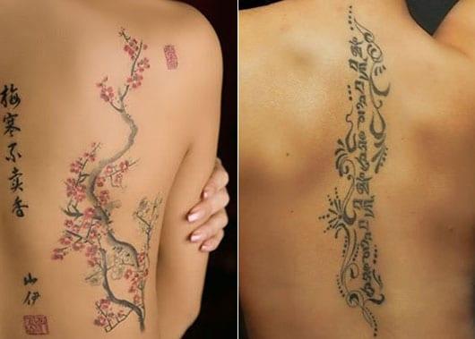 coole rücken tattoos als wirbelsäule tattoo idee