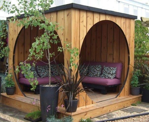 garten ideen für sitzecke und wohnzimmereinrichtung im garten ...