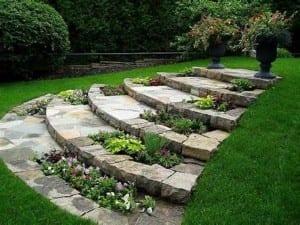 gerundete gartentreppe aus natursteinen selber bauen