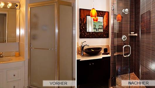 Ideen Für Badezimmerrenovierung Und Dusche Mit Badezimmerfliesen Braun