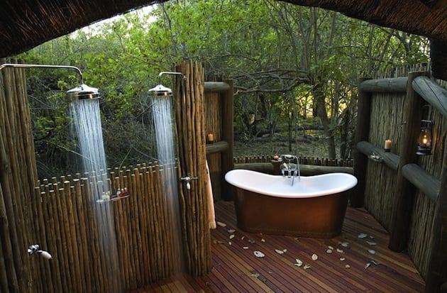 Ideen Für Badezimmer Im Außenbereich Mit Außenduschen Und