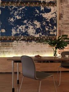 ideen für wohnungsrenovierung und rustikale wandgestaltung im Wohn Esszimmer mit Esstisch holz