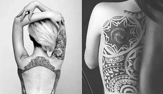 bildrahmen tattoo idee und maori tattoo idee für frauen