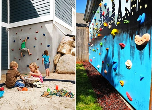 kinderspielplatz im garten selber bauen diy kletterwand f r kinder freshouse. Black Bedroom Furniture Sets. Home Design Ideas