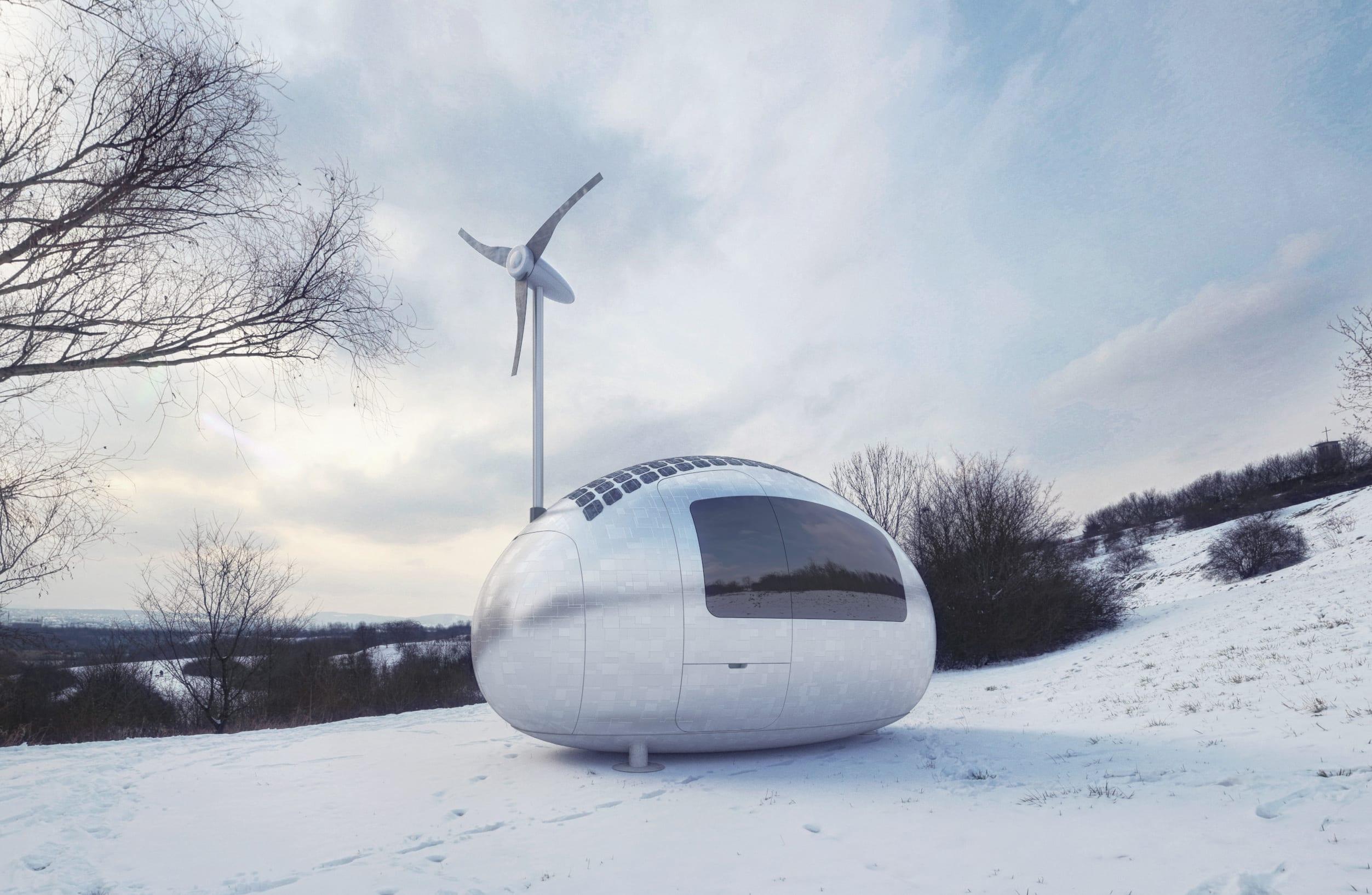 kleines wohnmobil als mobiles Niedrigenergiehaus mit solaryellen ...
