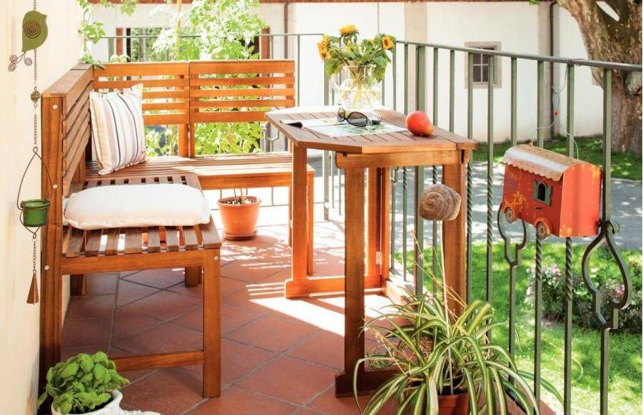 Balkon eckbank cool einzigartig eckbank klein modern for Holztisch klein