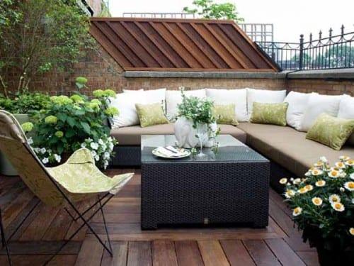 Kleines Wohnzimmer Inspirationen Als Dachterrasse Gestaltung Mit