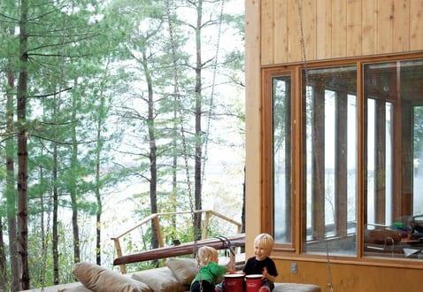 kreative Garten und terrassengestaltung mit DIY Hängematte aus Holz