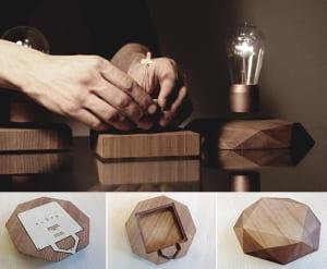 kreative-Lampe-mit-rotierender-und-freischwebender-Glühbirne