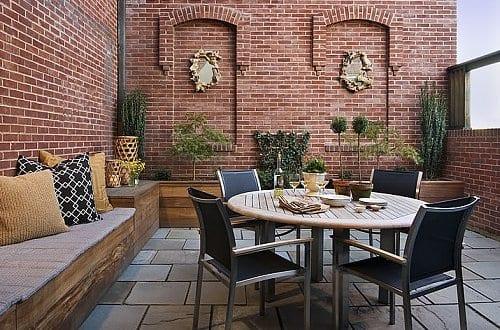 Kreative terrassen gestaltung als klwinws wohnzimmer im freien mit diy sitzecke aus holz freshouse - Kreative wohnzimmer ...
