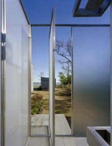 modernes Badezimmer aus Glas für den außenbereich