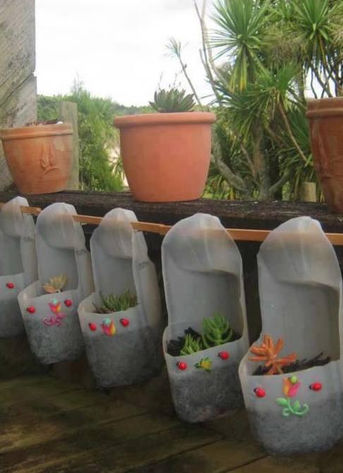 Plastikflaschen Bastelidee Fur Diy Garten Freshouse