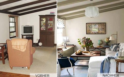 AuBergewohnlich Renovierungsideen Für Kleine Wohnzimmer Mit Sichtbaren Deckenbalken