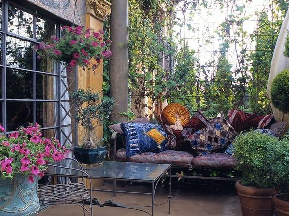 Romantische Terrassen Deko Als Wohnzimmer Draussen Einrichten Freshouse