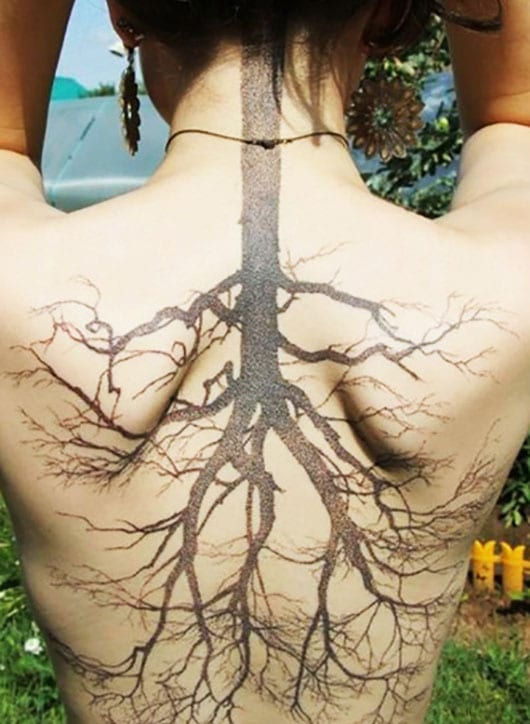 Tattoo nacken filigranes Filigrane Tattoos