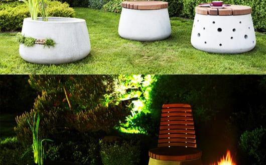 runde-Betonmöbel-als-coole-Gartengestaltung-mit-Beton