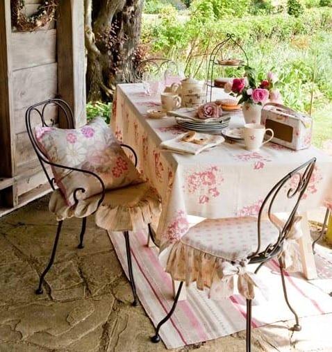 Rustikales Wohnzimmer Romantisch Einrichten Auf Die Terrasse Mit