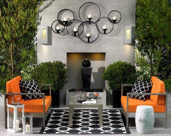 Garten Wanddeko schöne gartenideen für kleines wohnzimmer draußen freshouse