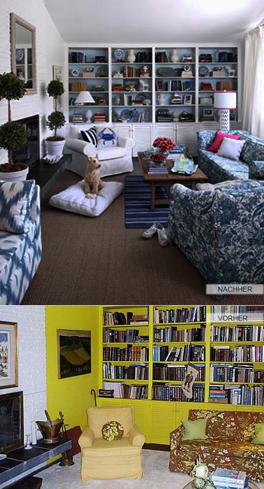 tipss und ideen zum renovieren wohnzimmer mit kamin und wandb cherregal aus holz in wei. Black Bedroom Furniture Sets. Home Design Ideas