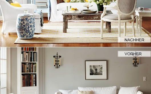 zimmer-renovieren-durch-wand-streichen-in-hellblau-und-wandgestaltung-mit-weißen-bilderrahmen