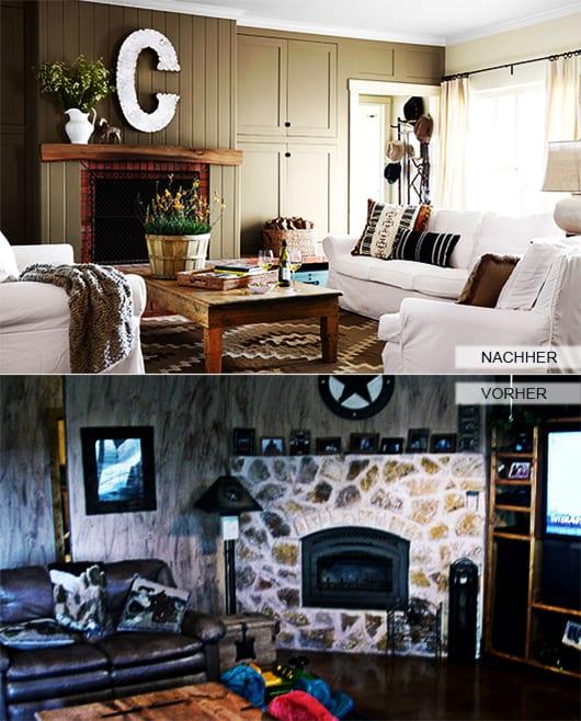 Zimmer renovieren ideen kleines wohnzimmer mit kamin aus for Ideen wohnzimmer streichen