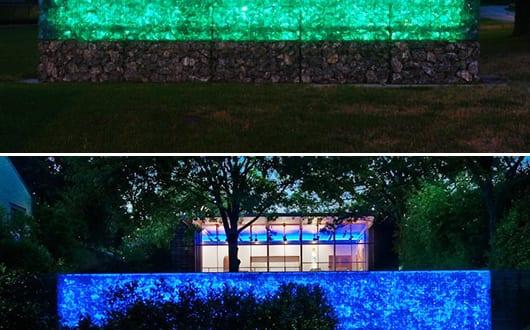Gabionen Beleuchtung gabione gartenmauer mit led beleuchtung freshouse