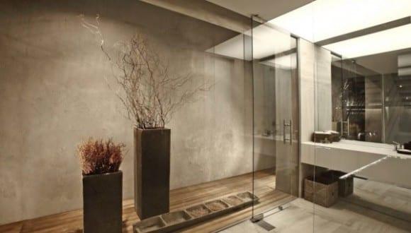 moderne Architektur und Interior Design in Weiß