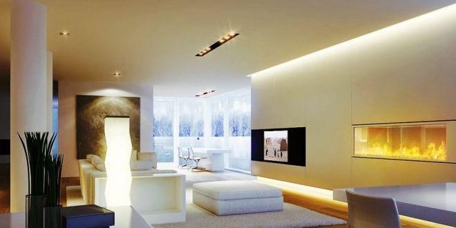 indirekte beleuchtung als zusatzlicht im wohnzimmer freshouse. Black Bedroom Furniture Sets. Home Design Ideas