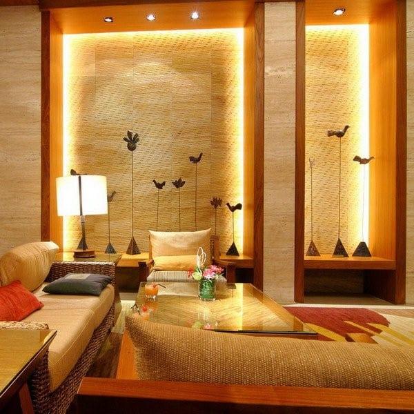 Indirekte Beleuchtung Wand Als Idee Für Moderne Wohnzimmergestaltung