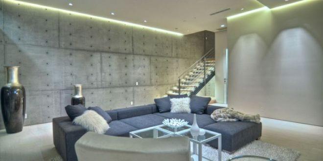 Indirekte Deckenbeleuchtung Für Moderne Wohnzimmer Beton - Freshouse